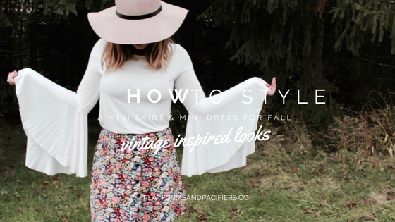 How to Style a Mini Dresses or Skirt This Fall